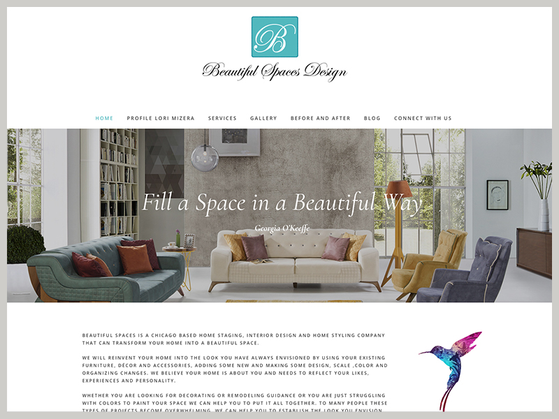 Beautiful Spaces Design website Orland Park