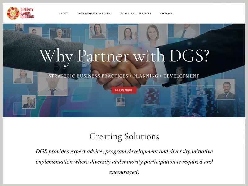 Diversity Gaming Solutions website