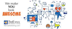image representing animated social media posts
